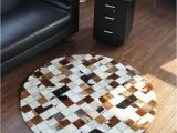 Machine Washable Rubber Backed area Rugs Free Shipping 1 Piece Via Dhl 100 Natural Cowhide Leather