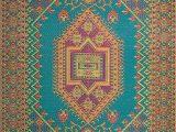 Mad Mats Turkish Outdoor area Rug Mad Mats oriental Turkish Indoor Outdoor Floor Mat 4 by 6 Feet Aqua
