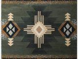 Made by Design area Rugs south West Native American area Rug Design C318 Sage Green 5 Feet X 7 Feet