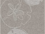 """Madison Park Tradewinds Bath Rug Brumlow Mills Sand Dollars Beach and Ocean area Rug for Kitchen Deck Patio or Home Decor 2 6"""" X 3 10"""" Beige"""