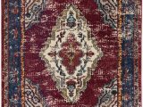 Maroon and Blue Rug the Amuze Collection Showcases Traditional and Vintage