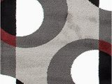 Maroon and Gray area Rugs Circle Gray Grey Burgundy area Rug – Modern Rugs and Decor