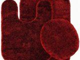 Maroon Bathroom Rug Sets 3 Pc Burgundy Bathroom Set Bath Mat Rug Contour and