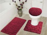 Maroon Bathroom Rug Sets 3 Pc Rock Burgundy High Quality Jacquard Bathroom Bath Rug