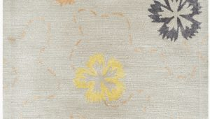 Martha Stewart Manor House area Rug Martha Stewart Floral Handmade Tufted Pearl Gray area Rug