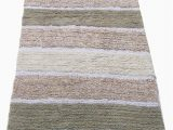 "Mauve Bathroom Rug Sets Chardin Home Cordural Stripe Bath Runner Gray Beige with Latex Spray Non Skid Backing 24"" W X 60 L"