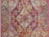 Medallion Loomed area Rug Safavieh Safavieh Crystal Collection Crs507b Light Blue and Fuchsia Pink Distressed Bohemian Medallion area Rug 4 X 6