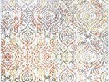 """Melrose Modern Geometric Ivory Blue area Rug by Home Dynamix Home Dynamix Melrose Audrey area Rug 6 6""""x9 6"""" Rectangle Ivory orange"""