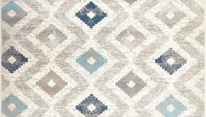 "Melrose Modern Geometric Ivory Blue area Rug by Home Dynamix Home Dynamix Melrose Maritza area Rug 6 6"" X 9 6"" Rectangle Blue Ivory"