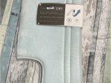 "Memory Foam Contour Bath Rug Smart Dry™ 21"" X 24"" Memory Foam Contour Bath Mat In Seaglass"