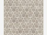 Mickey and Minnie area Rug Minnie Trellis ash Grey Rug