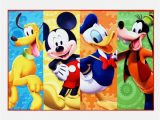 Mickey and Minnie Mouse area Rug Disney Mickey Donald Pluto and Goofy Rug In 2020