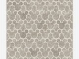 Mickey and Minnie Mouse area Rug Mickey Trellis ash Grey Rug