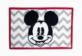 Mickey Mouse Bathroom Rug Walmart Disney Chevron Mickey Mouse Bath Rug Walmart Com