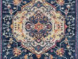 Midnight Blue area Rug Designer Home Niragia area Rug 713 Ulani Midnight Blue Medallion Scrolls Walmart