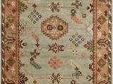 Mint Green and Brown area Rug 9 X 13 Incan Fiesta Beige and Mint Green New Zealand Wool