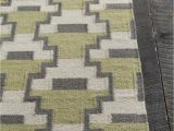 Mint Green and Brown area Rug Avon Collection Hand Woven area Rug In Green Grey & White
