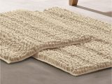 Modern Bath Rug Set Modern Threads Chenille Noodle Bath Mat 2 Piece Set Ivory