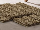 Modern Bath Rug Set Modern Threads Chenille Noodle Bath Mat 2 Piece Set Taupe