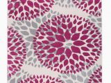 Modern Floral Circles area Rug Modern Floral Circles Pink 5 X7 area Rug