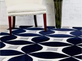 Modern Navy Blue Rug Navy Gray Modern Rug Kaleidoscope Contemporary Affordable