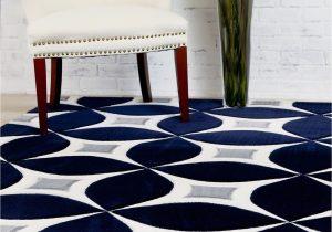 Modern Navy Blue Rug Navy Gray Modern Rug Kaleidoscope Contemporary Affordable