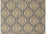 Mohawk area Rug 60 X 84 Mohawk Home Laguna Ogee Waters Tan Geometric Contemporary Shag area Rug 5 X 8 Tan and Grey