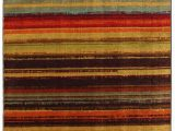 "Mohawk Home Boho Stripe area Rug Mohawk New Wave Boho Stripe Multi 1 8"" X 2 10"" Scatter"