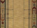 Mohawk Home Leaf Point Brown Indoor Inspirational area Rug Mission Rugs Arts and Crafts