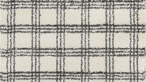 "Momeni Maya Plaid area Rug Momeni Rugs Maya Collection Ultra Thick Pile Shag area Rug 5 3"" X 7 6"" Ivory"