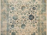 Montelimar Ivory Blue area Rug Montelimar Persian Inspired Beige Turquoise area Rug