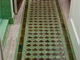 Moss Green Bath Rug Peacock Tile Floor Rug Jade Moss Green Shape Tiles