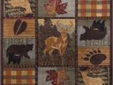 Multi Color Block area Rug Colorblock Wildlife Novelty Lodge Pattern Multi Color Rectangle area Rug 5 X 7