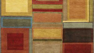 Multi Color Block area Rug Couristan Pokhara Iridescent Block Multi Color area Rug