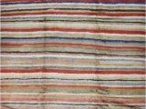 Multi Colored Striped area Rugs Low Pile Tulu Rug with Multi Color Horizontal Stripes Tulu