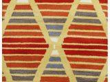 Multi Colored Striped area Rugs Rizzy Home Marianna Fields Mf9520 Multi Colored Striped area Rug