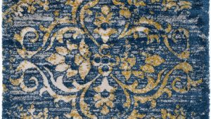 Mustard and Blue Rug Surya Vintage Shag Vts4101 Dark Blue Mustard area Rug