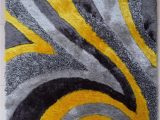 Mustard Yellow and Gray area Rug Contemporary Designer Shag area Rugs are Made with the
