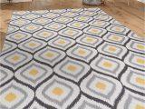 "Mustard Yellow and Gray area Rug Modern Moroccan Design Non Slip Non Skid area Rug 5 X 7 5 3"" X 7 3"" Gray Yellow"