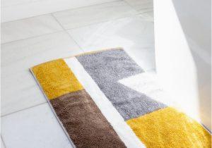 Mustard Yellow Bath Rug Piet Bath Mat Rikumo