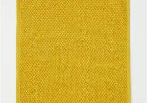 Mustard Yellow Bath Rug Textured Weave Bath Mat Dusky Green Home All Hm Us