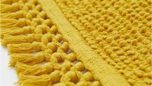 Mustard Yellow Bath Rug Textured Weave Bath Mat Mustard Yellow Home All Hm Us