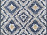 Nala Blue Gray area Rug Fuza southwestern Navy area Rug