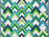 Nathalie Green Blue Indoor Outdoor area Rug Modern Style Green Blue area Rug Contemporary Geometric