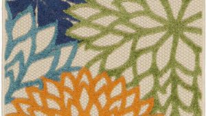 Nathalie Green Blue Indoor Outdoor area Rug Nathalie Green Blue Indoor Outdoor area Rug