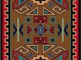 Native American Design area Rugs Four Rams Rug 8 X 11