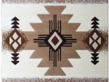 Native American Design area Rugs south West Native American area Rug Design C318 Ivory 8 Feet X 10 Feet