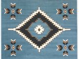 Native American Indian Design area Rugs Rugs 4 Less Collection southwest Native American Indian area Rug Design R4l Sw2 In Light Blue 5 X7