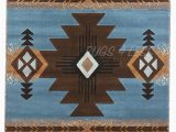 "Native American Indian Design area Rugs Rugs 4 Less Collection southwest Native American Indian area Rug Design R4l2 318 Light Blue 5 2""x7 2"""
