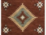 Native American Inspired area Rugs Rizzy southwest Su 1822 Rust area Rug
